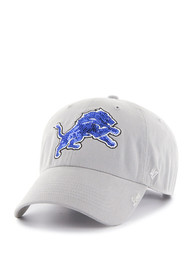 47 Detroit Lions Womens Grey Retro Sparkle Adjustable Hat