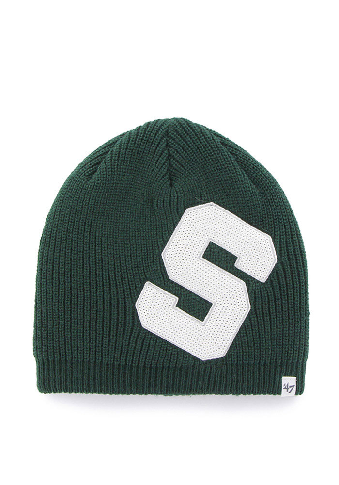 '47 Michigan State Spartans Green Sparkle Womens Knit Hat - Image 1
