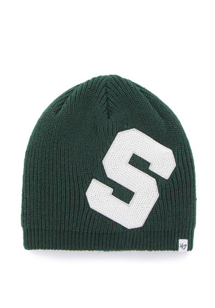 size 40 b486c be921  47 Michigan State Spartans Womens Green Sparkle Knit Hat