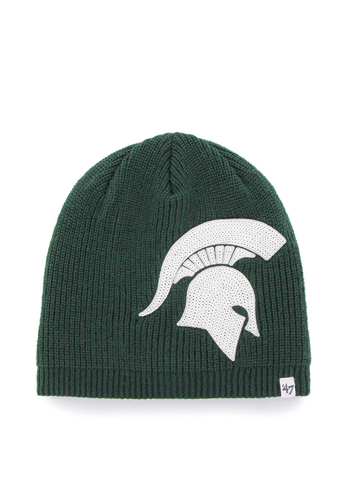 5301b886c18  47 Michigan State Spartans Green Sparkle Womens Knit Hat - Image 1.