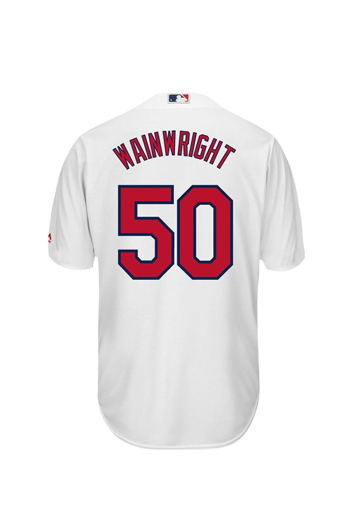 Adam Wainwright 50 St Louis Cardinals Mens White Player Replica Jersey - Image 1