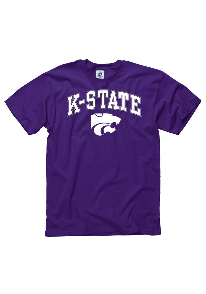 K-State Wildcats Purple Arch Short Sleeve T Shirt - Image 1