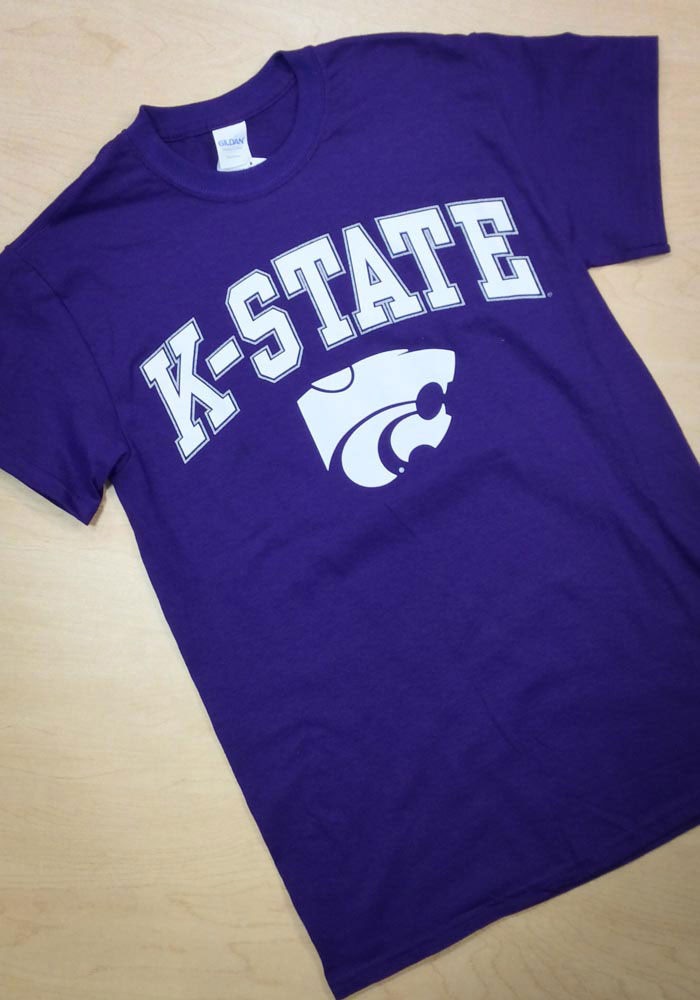 K-State Wildcats Purple Arch Short Sleeve T Shirt - Image 2
