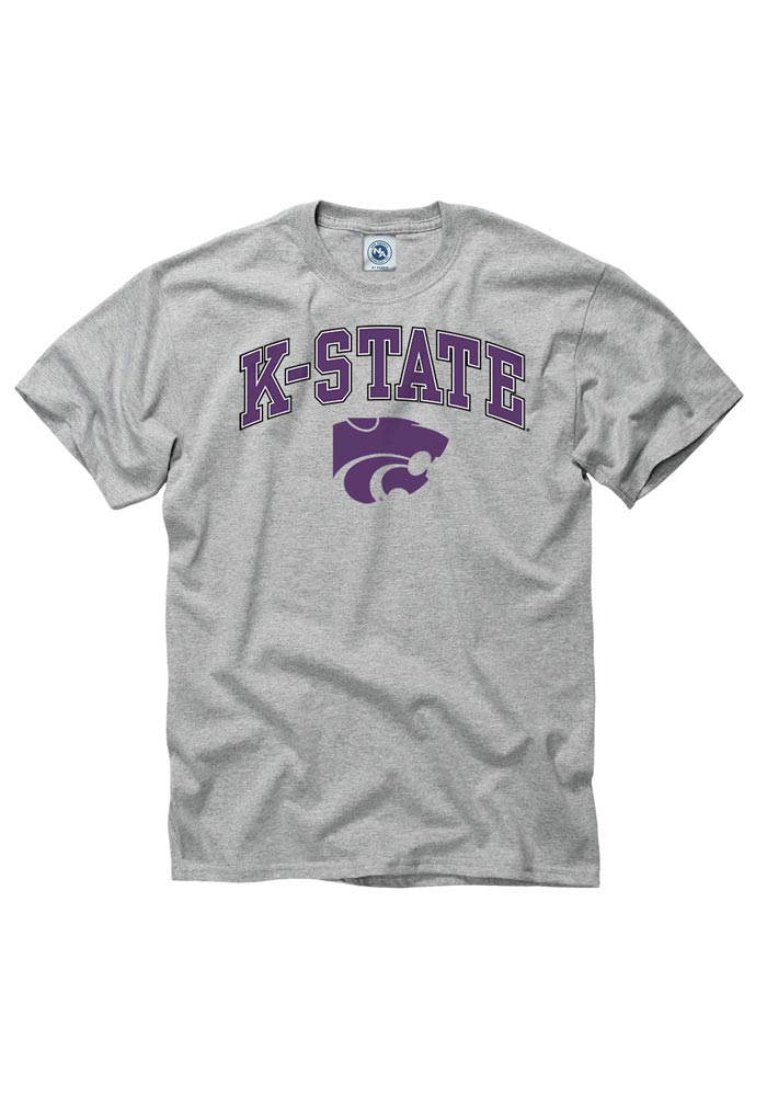 K-State Wildcats Grey Arch Short Sleeve T Shirt - Image 1