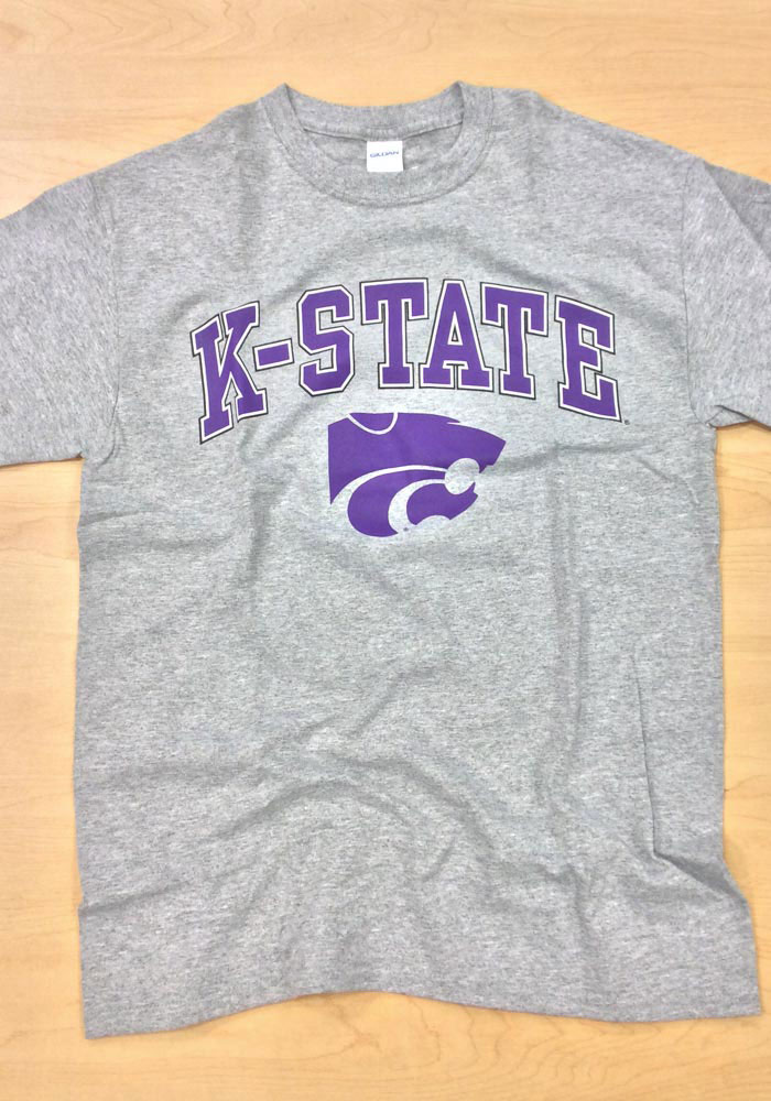 K-State Wildcats Grey Arch Short Sleeve T Shirt - Image 2