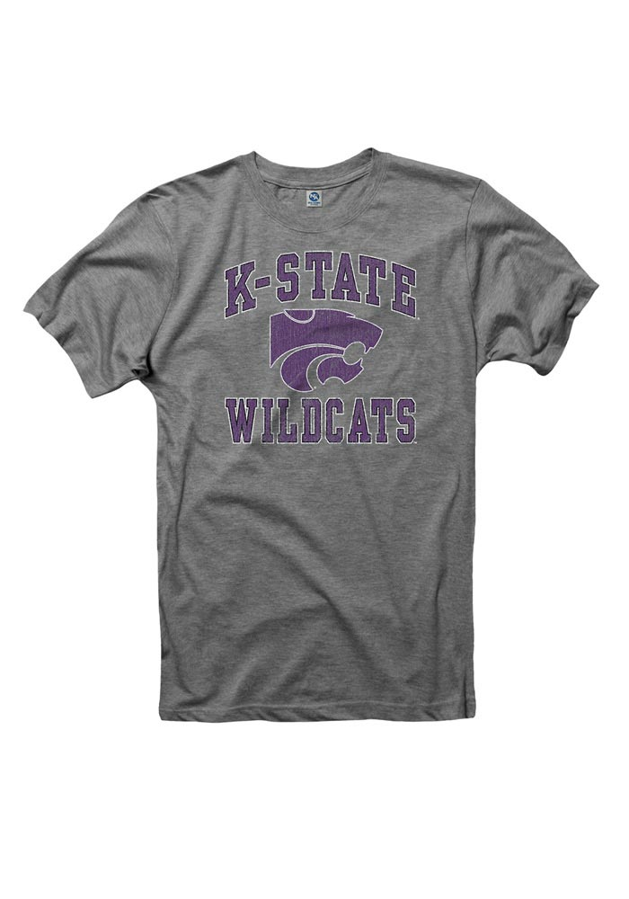 K-State Wildcats Grey #1 Short Sleeve T Shirt - Image 1