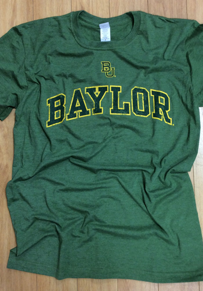 Baylor Bears Grey Arch Short Sleeve T Shirt - Image 2