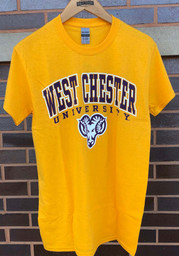 West Chester Golden Rams Gold Arch Mascot Tee