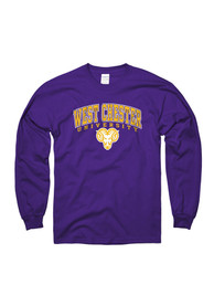 West Chester Golden Rams Purple Arch Mascot Tee