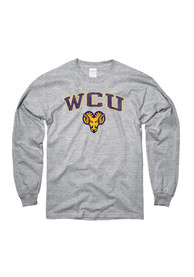 West Chester Golden Rams Grey Distressed Arch Mascot Tee