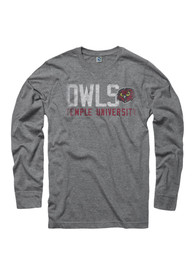 Temple Owls Grey Vision Tee