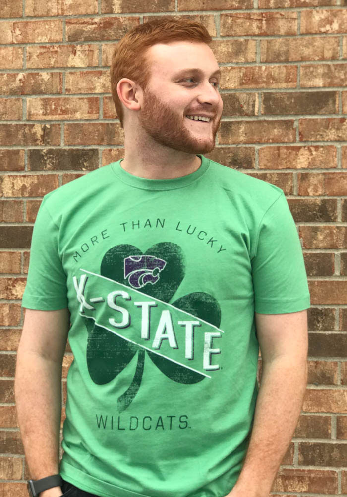 K-State Wildcats Green More Than Lucky Short Sleeve Fashion T Shirt - Image 2