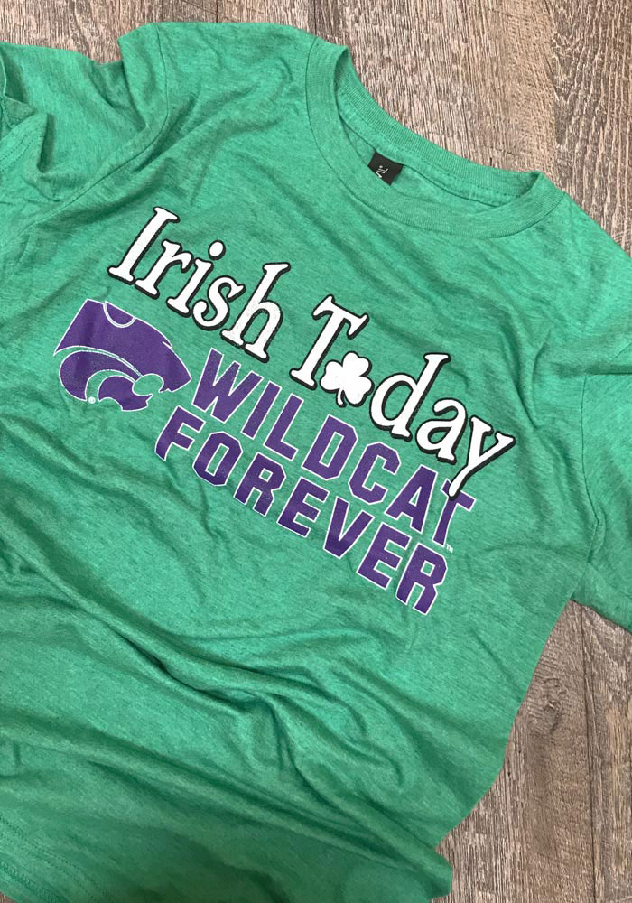 K-State Wildcats Green Forever Short Sleeve Fashion T Shirt - Image 2