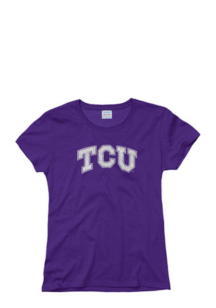 Horned Frogs Womens Purple Glitzy T-Shirt