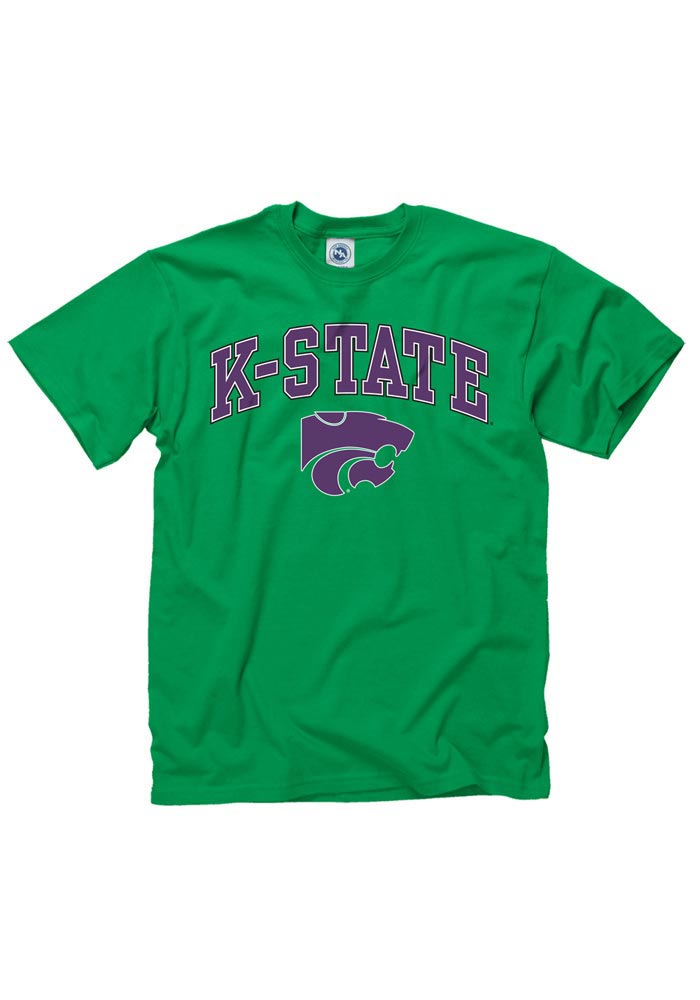 K-State Wildcats Green St. Pats Short Sleeve T Shirt - Image 1