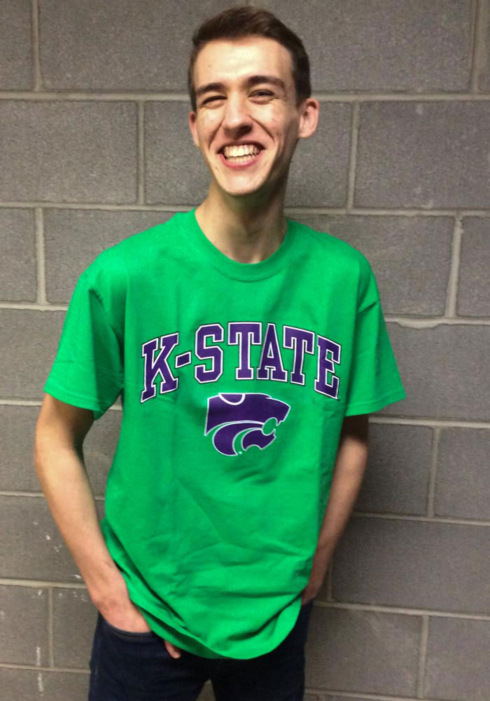 K-State Wildcats Green St. Pats Short Sleeve T Shirt - Image 2