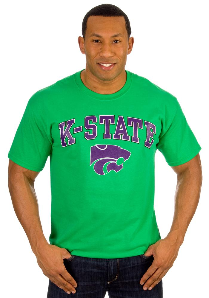 K-State Wildcats Green St. Pats Short Sleeve T Shirt - Image 3