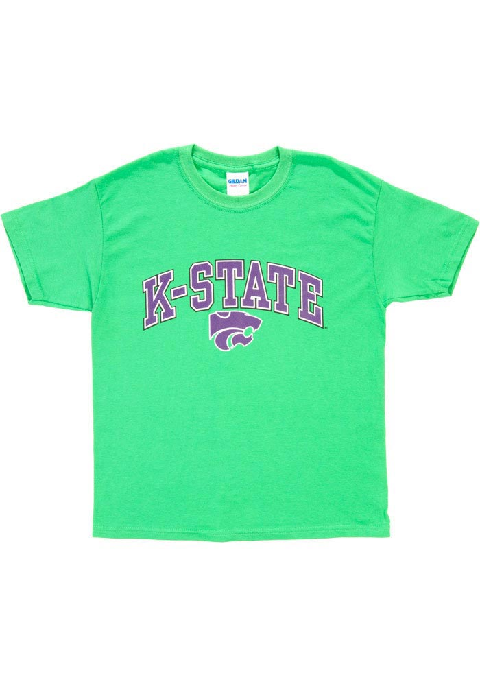 K-State Wildcats Youth Green Arch Short Sleeve T-Shirt - Image 1