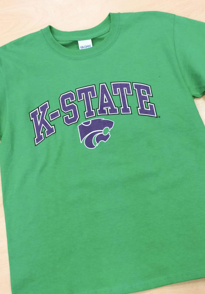 K-State Wildcats Youth Green Arch Short Sleeve T-Shirt - Image 2