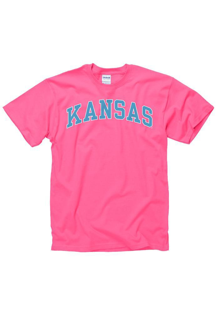 Kansas Pink Arched Wordmark Short Sleeve T Shirt - Image 2