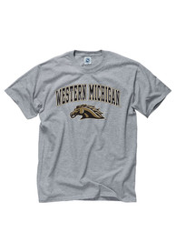 Western Michigan Broncos Grey Arch Logo Tee