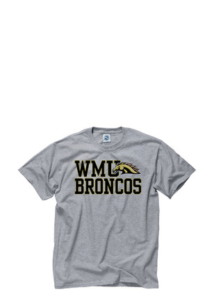 WMU Broncos Mens Grey Slogan Tee