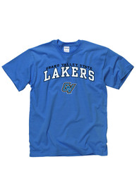 Grand Valley State Lakers Blue Arch Logo Tee