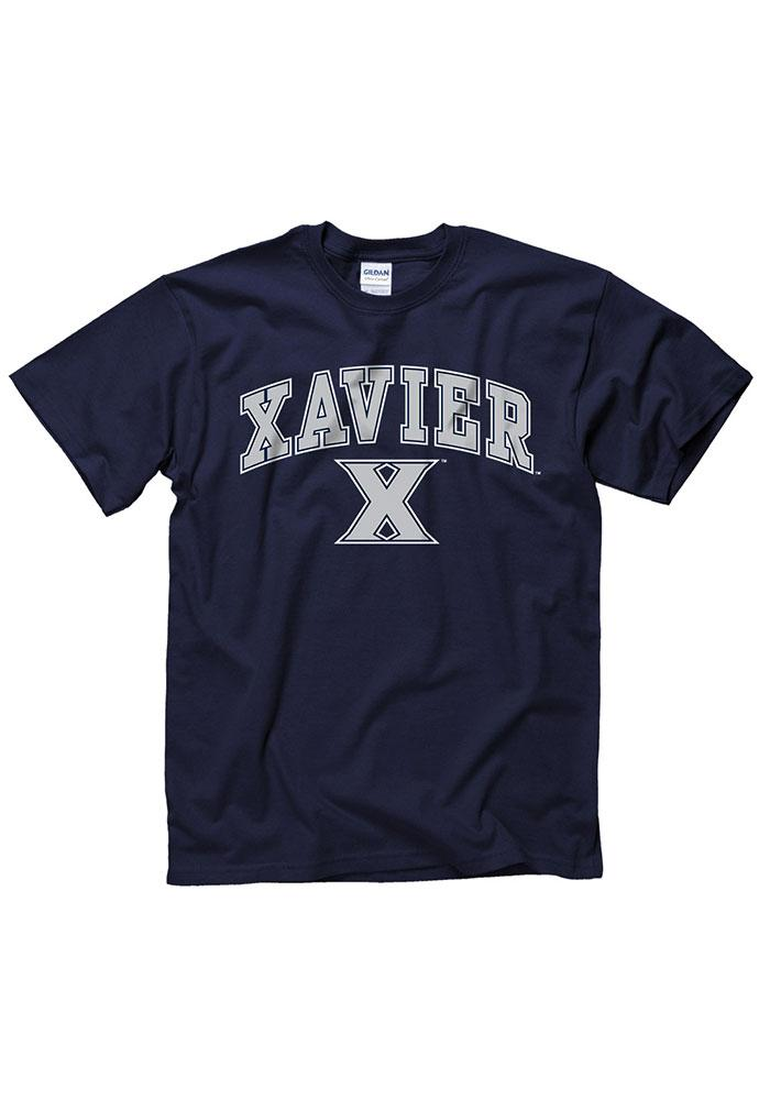 Xavier Musketeers Navy Blue Arch Logo Short Sleeve T Shirt - Image 1