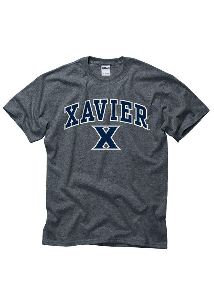 Xavier Musketeers Grey Arch Logo Short Sleeve T Shirt - Image 1
