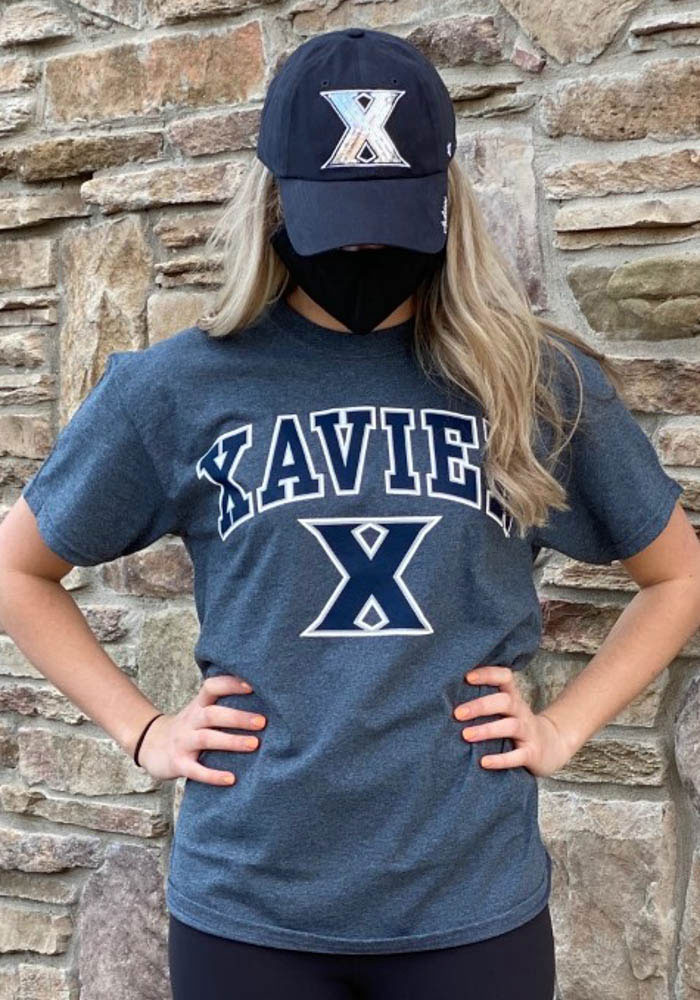 Xavier Musketeers Grey Arch Logo Short Sleeve T Shirt - Image 2