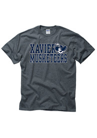 Xavier Musketeers Grey Slogan Tee