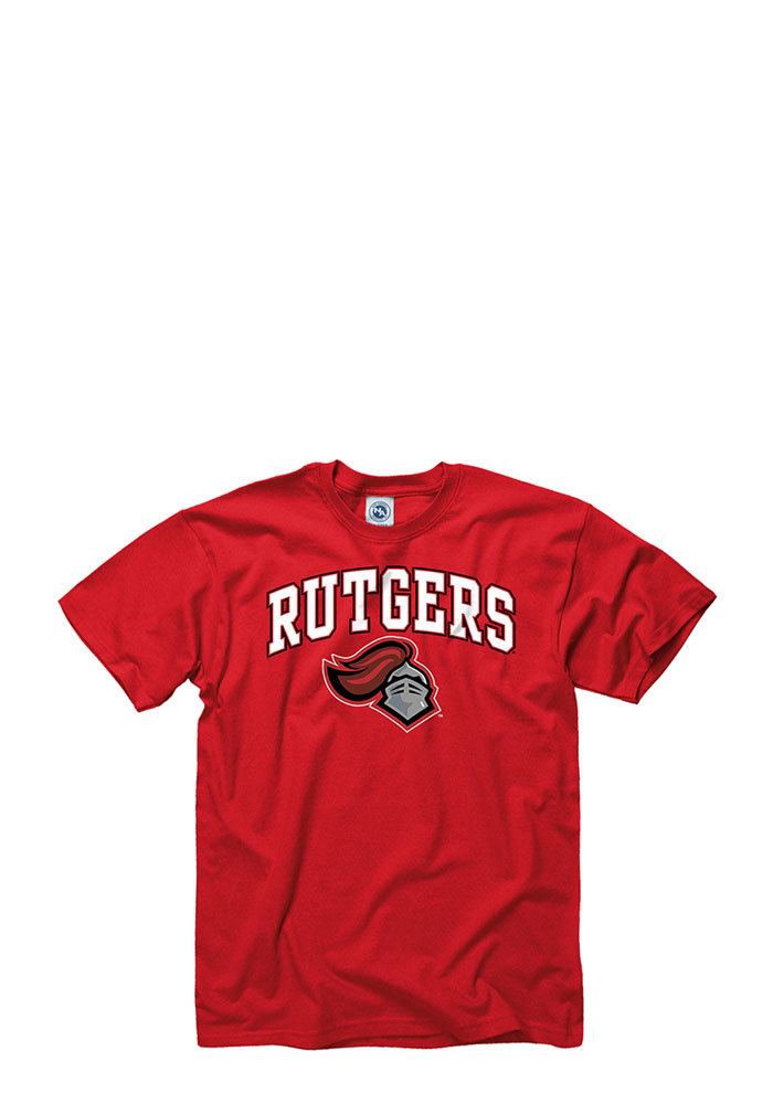 Rutgers Scarlet Knights Mens Red Arch Short Sleeve T Shirt - Image 1