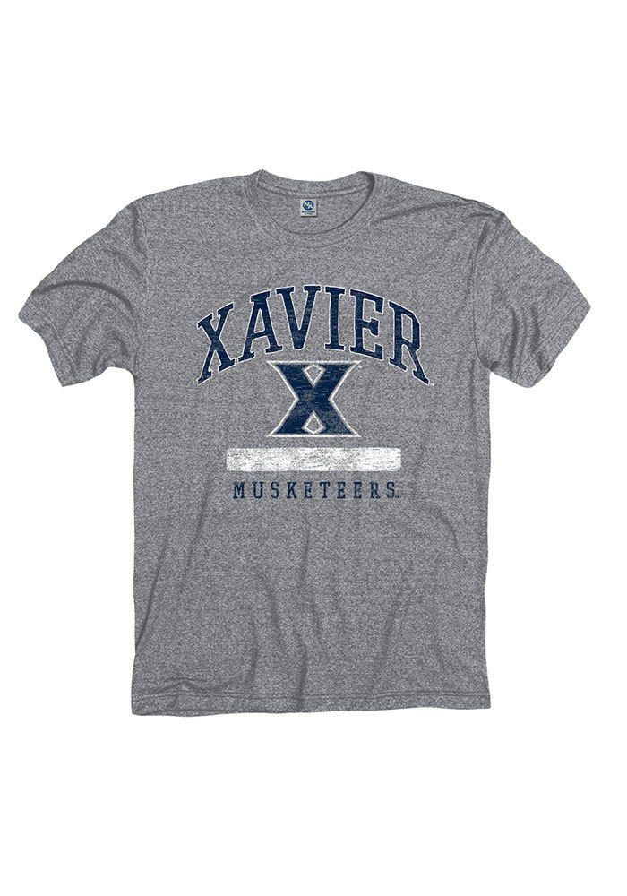 Xavier Musketeers Grey Faded Short Sleeve Fashion T Shirt - Image 1