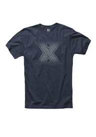 Xavier Musketeers Navy Blue Fade Out Tee