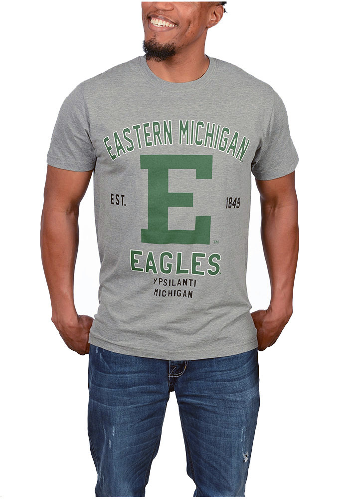 Eastern Michigan Eagles Grey Throwback Tee bdc3d429e