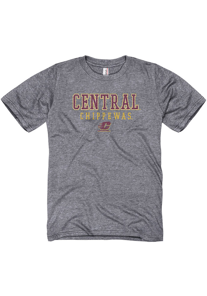Central Michigan Chippewas Grey Worn out Tee