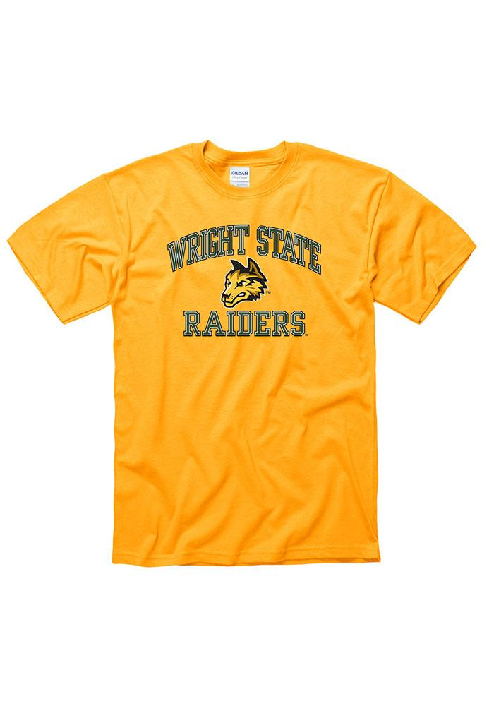 Wright State Raiders Gold Classic Text Short Sleeve T Shirt - Image 1