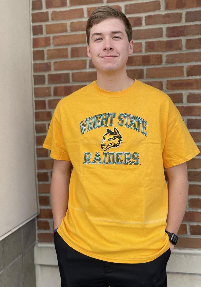 Wright State Raiders Gold Classic Text Short Sleeve T Shirt - Image 2