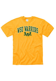 Wayne State Warriors Gold Arch Mascot Tee