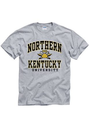 Northern Kentucky Norse Mens Grey Arch Mascot Tee