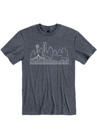 Dallas Navy Skyline Short Sleeve T Shirt