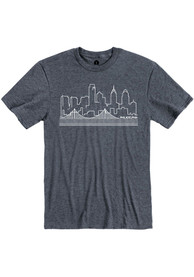 Philadelphia Navy Blue Skyline Short Sleeve T Shirt