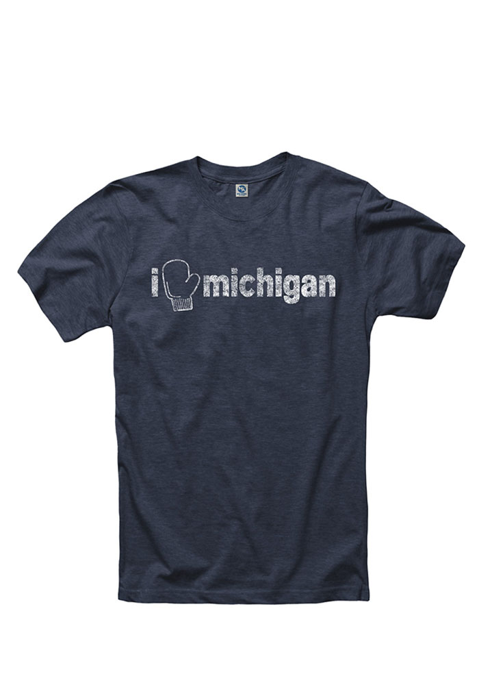 Michigan Navy Blue I Mitten Short Sleeve T Shirt