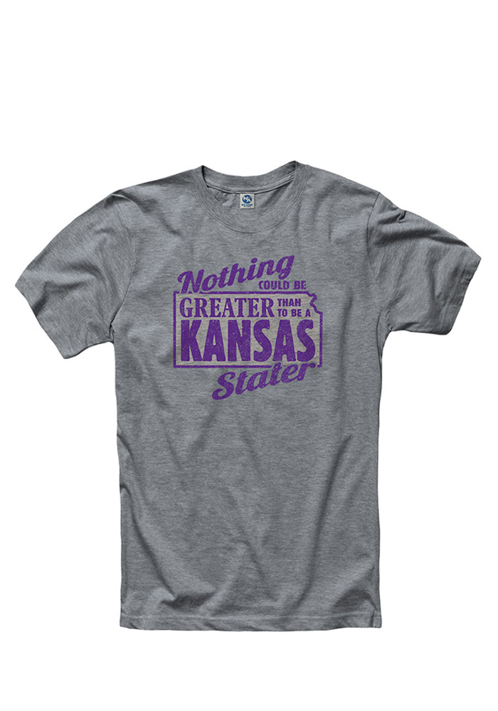 K-State Wildcats Grey K-Stater Tee