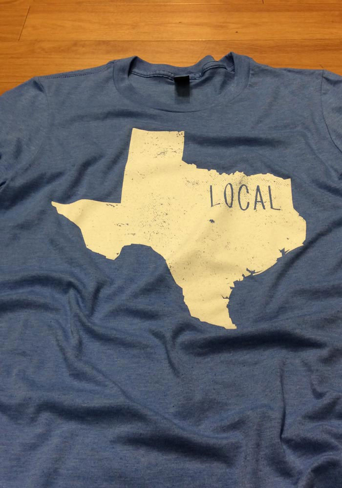 Texas Blue State Shape Local Short Sleeve T Shirt - Image 2