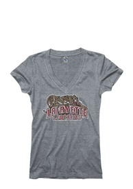 Lafayette College Juniors Grey Ageless V-Neck