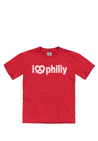 Philadelphia Youth Red I Pretzel Philly Short Sleeve T Shirt