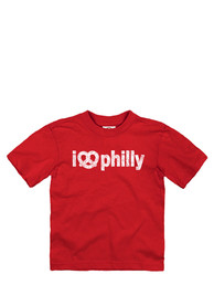 Philadelphia Toddler Red I Pretzel Philly Short Sleeve T Shirt