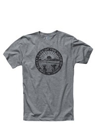 Ohio Grey State Seal Short Sleeve T Shirt