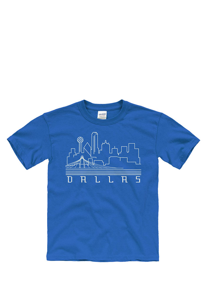 Youth blue skyline short sleeve t shirt 22782840 for T shirt printing fort worth